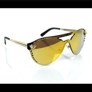 NWT Versace 2161-B Glamorous Shield Sunglasses